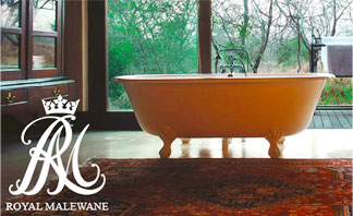 Beautiful Bath at Royal Malewane Safari Lodge